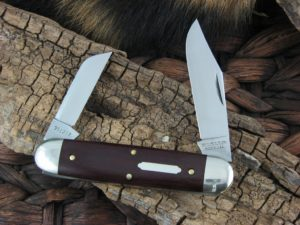 Great Eastern Cutlery Churchill Equal End Tidioute Maroon Linen Micarta 351217