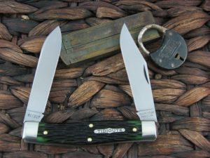 Great Eastern Cutlery Tidioute Moose with Green Bone handles 811217