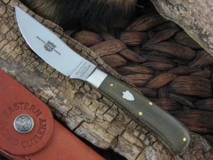 Great Eastern Cutlery Upland Hunter with OD Canvas Micarta handles H734