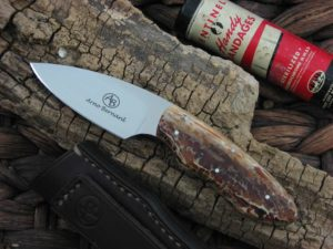 Arno Bernard Knives Bush Baby Meerkat with Kudu Bone handles