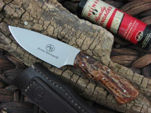 Arno Bernard Knives Bush Baby Gecko with Kudu Bone handles