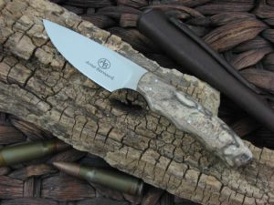 Arno Bernard Knives Bush Baby Squirrel with Spalted Maple handles