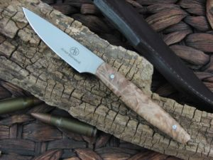 Arno Bernard Knives Pro Hunter Marabou with Maple Burl handles