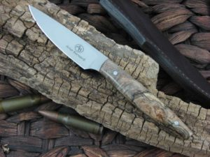 Arno Bernard Knives Pro Hunter Marabou with Spalted Maple handles