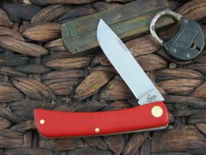 Case Cutlery Sodbuster Jr with Red Composite handles 22806