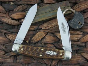 Great Eastern Cutlery Bull Moose Northfield Antique Amber Bone 811217