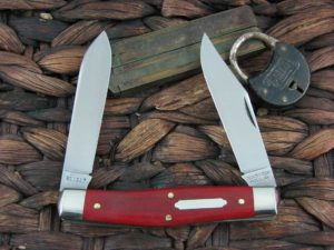 Great Eastern Cutlery Bull Moose Tidioute Red Linen Micarta 811217