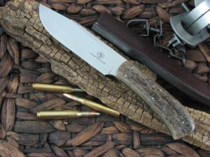 Arno Bernard Knives Giant Elephant with Kudu Bone handles