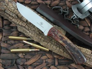 Arno Bernard Knives Giant Buffalo with Kudu Bone handles