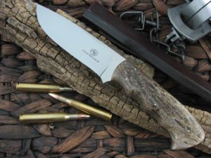 Arno Bernard Knives Giant Hippo with Kudu Bone handles