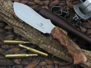 Arno Bernard Cutlery Buffalo Giant Crocodile Hide handles N690 steel 1212