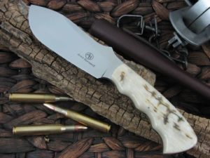 Arno Bernard Knives Giant Rhino with Sheep Horn handles