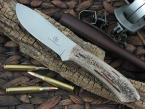 Arno Bernard Knives Giant Giraffe with Kudu Bone handles