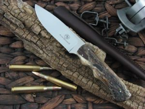 Arno Bernard Knives Predator Cheetah with Kudu Bone handles