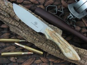Arno Bernard Knives Predator Lion with Giraffe Bone handles