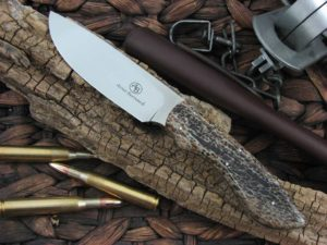 Arno Bernard Knives Predator Lion with Kudu Bone handles