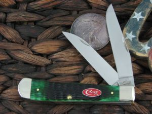 Case Knives Trapper with Burmuda Green Bone handles 23055
