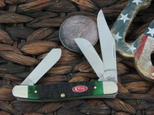 Case Knives Stockman with Burmuda Green Bone handles 23057