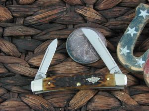 Case Knives Half Congress with Antique Peach Seed Bone handles 23462