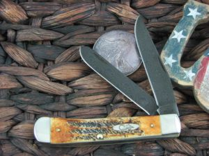Case Knives Trapper with Bone Stag handles 34800