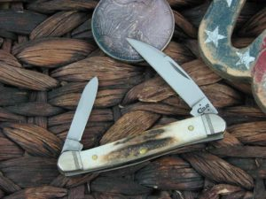 Case Knives Mini Copperhead with Vintage Stag handles 52951
