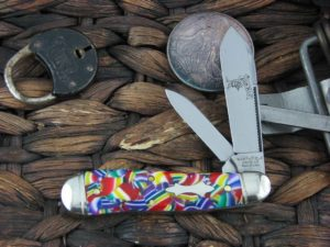 Great Eastern Cutlery Bird Dog Jack Northfield Mardis Gras Acrylic