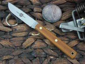 Great Eastern Cutlery Drop Point Hunter with Natural Canvas Micarta handles H205