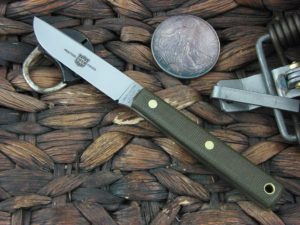 Great Eastern Cutlery Drop Point Hunter with OD Canvas Micarta handles H205