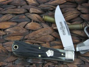 Great Eastern Cutlery Northfield Hunter with Antique Green Bone handles 431118