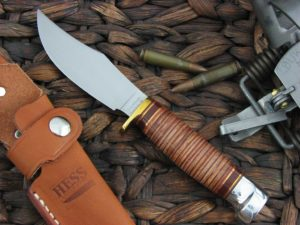 Hess Knives Pioneer with Stacked Leather handles
