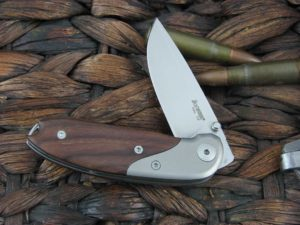 Lion Steel Linerlock with Santos Wood handles 8200ST