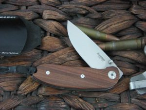 Lion Steel Linerlock with Santos Wood handles 8210ST