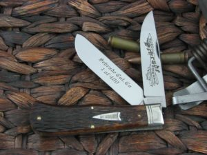 Great Eastern Cutlery Schrade Trapper with Brown Pick Bone handles SUSA2