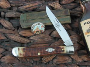 Great Eastern Cutlery Northfield Trapper with Antique Amber Bone handles 488117
