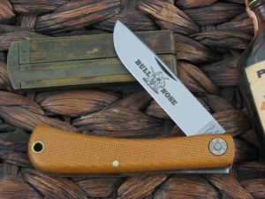 Great Eastern Cutlery Bullnose Sodbuster Farm & Field Natural Canvas Micarta 715118