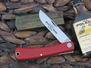 Great Eastern Cutlery Bullnose Sodbuster Farm & Field Red Linen Micarta 715118
