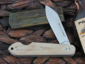 Viper Cutlery EZ Open with Natural Canvas Micarta handles VPCK0411