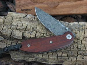 Lion Steel Linerlock with Santos Wood handles 8210DST