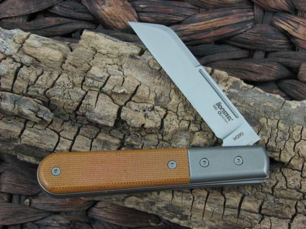 Lion Steel Dom Sheepfoot Jack Natural Micarta Handles M390 Steel CK0115 |  CollectorKnives