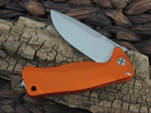 LionSteel SR22 with Orange Aluminum handles SR22AOS