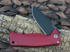 LionSteel SR-22 with Red Aluminum handles SR22ARB