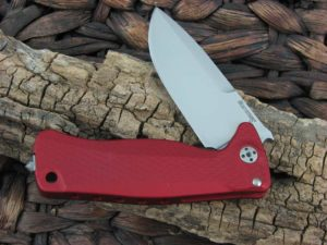 LionSteel SR22 with Red Aluminum handles SR22ARS