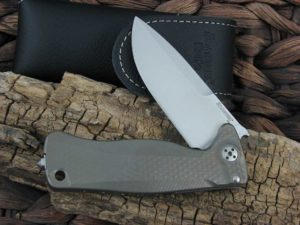 LionSteel SR22 with Bronze Titanium handles SR22B