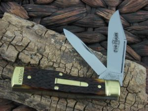Great Eastern Cutlery Buffalo Jack Gunstock Northfield Autumn Gold Bone 441218