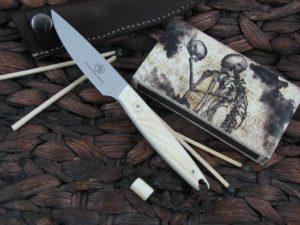 Arno Bernard Knives 2018 Series Bateleur with Warthog Tusk handles