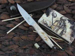 Arno Bernard Knives 2018 Series Bateleur with Rams Horn handles