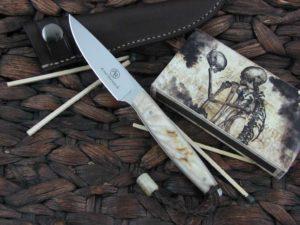 Arno Bernard Knives 2018 Series Bateleur with Rams Horn handles