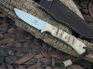 Arno Bernard Knives 2018 Series Badger with Rams Horn handles