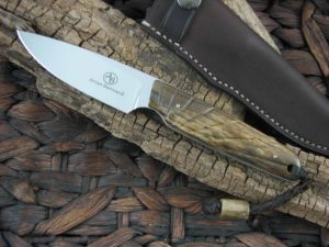 Arno Bernard Knives 2018 Series Bongo with Giraffe Bone handles