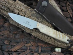 Arno Bernard Knives 2018 Series Bongo with Rams Horn handles